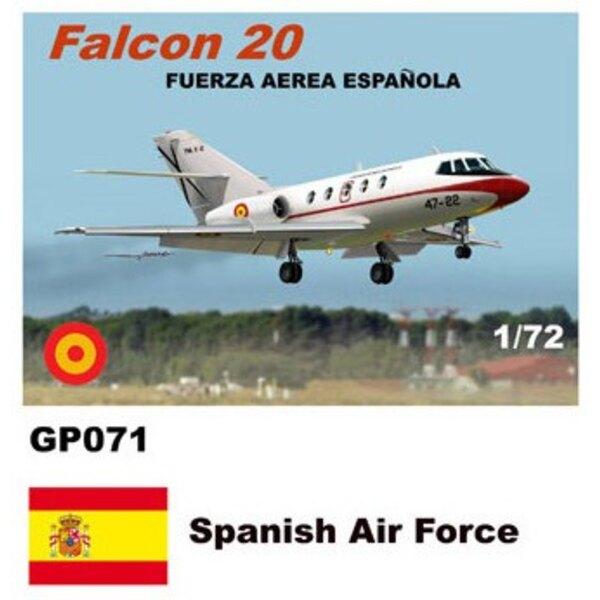 Dassault-Mystere Falcon 20 décalques Espagnol Air Force