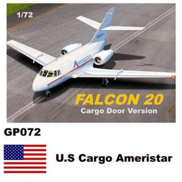Dassault-Mystere Falcon 20 Stickers US Cargo Ameristar (version de la porte cargo)