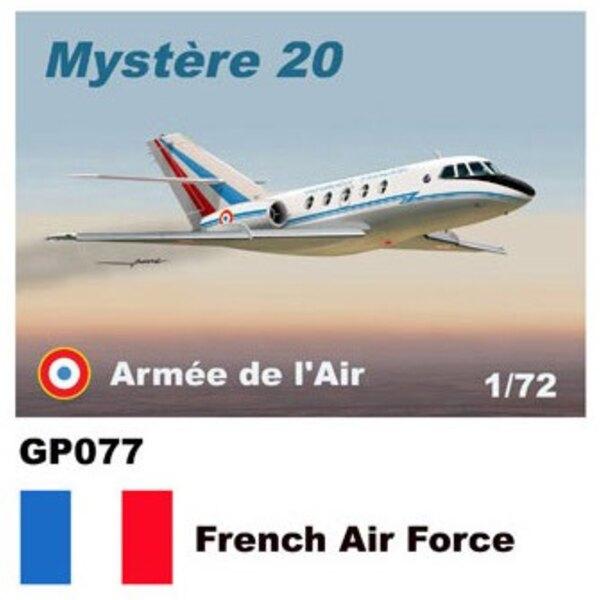 Dassault-Mystere Falcon 20 décalques Armee L'Armée de l'Air de l'air française