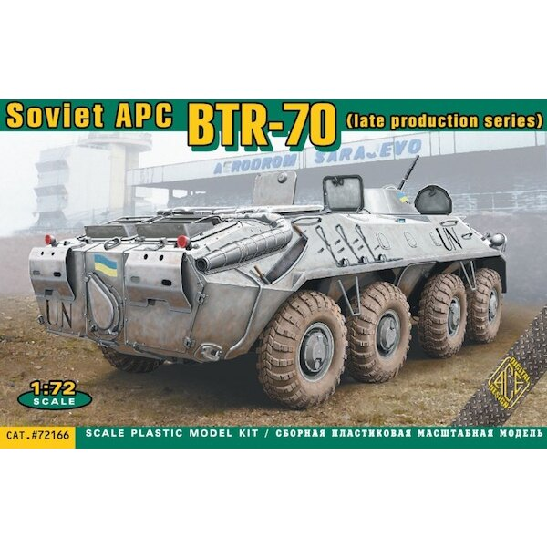 Soviet BTR-70 armored personnel carrier, late production
