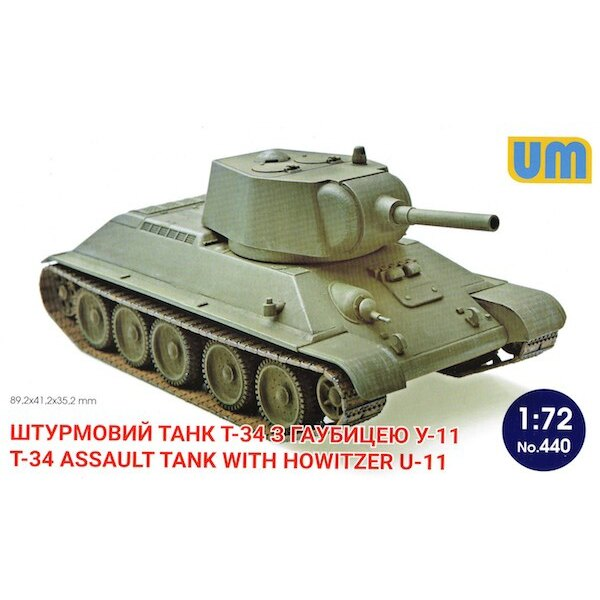 Russian T-34 Assault tank with howitzer U-11