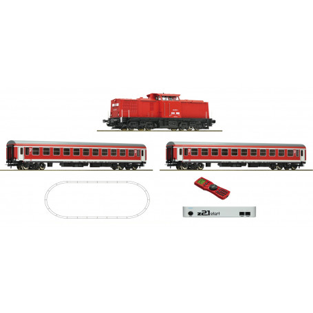 Digital z21 Start Set: Diesel locomotive class 204 and passenger train, DR