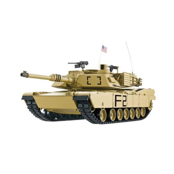 CHAR D'ASSAUT RC 1/16 U.S.ABRAMS M1A2 COMPLET (BRUIT / FUMEE)- 2,4GHz