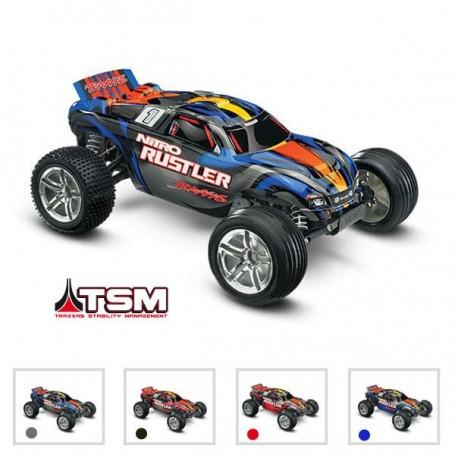 NITRO RUSTLER: 1/10 NITRO- 2WD STADIUM TRUCK - TSM