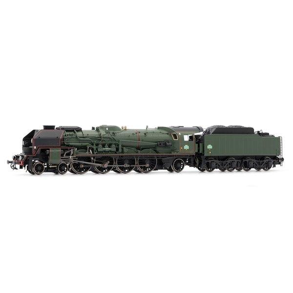 Locomotive à vapeur 241P tender 34 P, version fin de service, SNCF époque III - dépôt Le Mans
