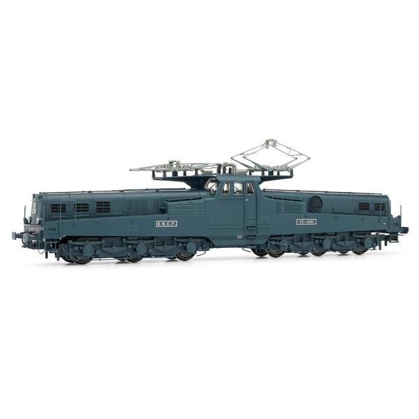 Locomotive électrique CC 14101 livrée bleue d'origine avec ventilateur latéral, époque III
