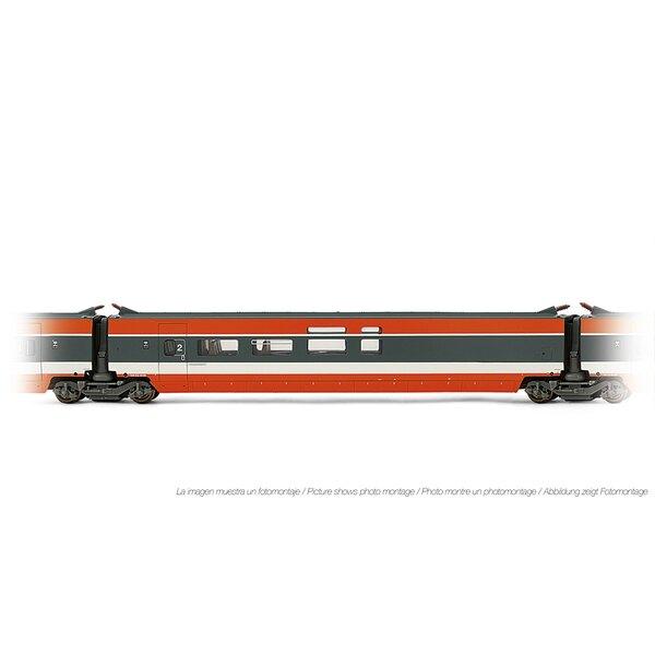 Voiture intermédiaire TGV Sud-Est Bar, livrée orange