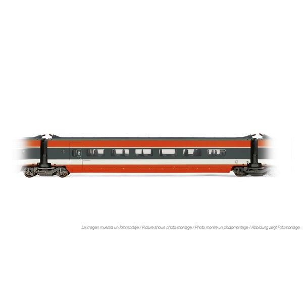 Voiture intermédiaire TGV Sud-Est 2ème classe, livrée orange