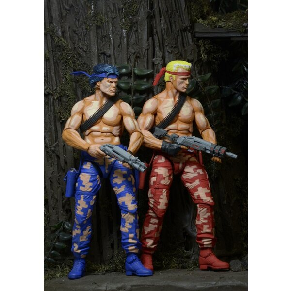 Contra pack 2 figurines Bill & Lance Video Game Appearance 18 cm