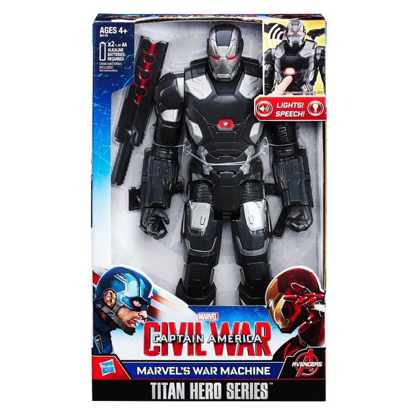 Captain America 3 figurine électronique Titan Hero 2016 War Machine 30 cm *ALLEMAND*