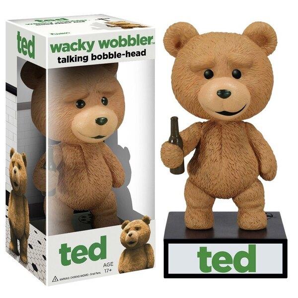 Ted Wacky Wobbler Bobble Head électronique Talking Ted 15 cm