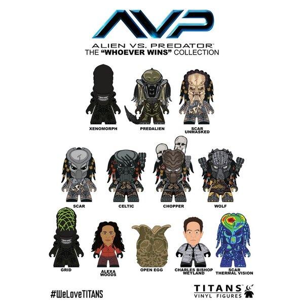 Alien vs Predator présentoir trading figures Whoever Wins Collection Titans 8 cm (20)