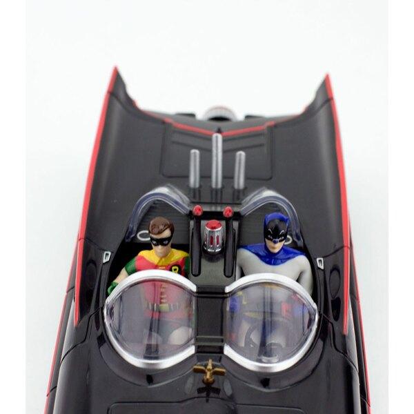 Batman 1966 pack 2 figurines flexibles et véhicule Batmobile avec Batman et Robin