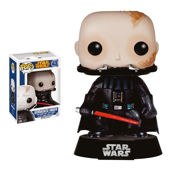 Star Wars POP! Vinyl Bobble Head Unmasked Darth Vader 9 cm