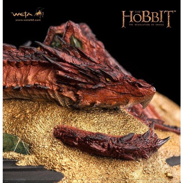 Le Hobbit La Désolation de Smaug statuette Smaug King Under The Mountain 8 cm