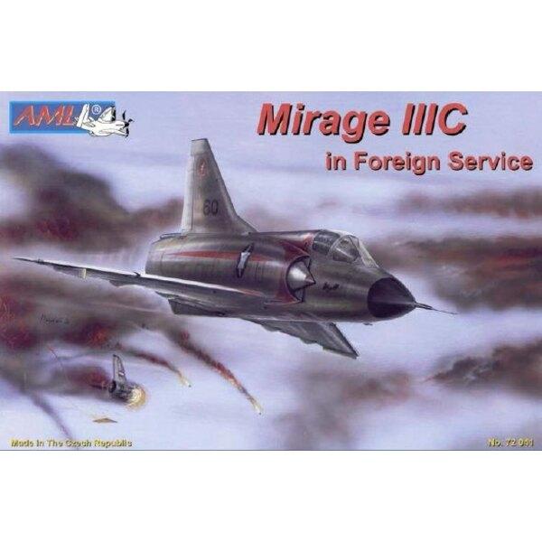 Dassault Mirage IIIC dans le service diplomatique. Décalques pour Israël, Afrique du Sud et Suisse