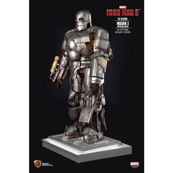 Iron Man 3 statue 1/1 Iron Man Mark I DX Base 210 cm
