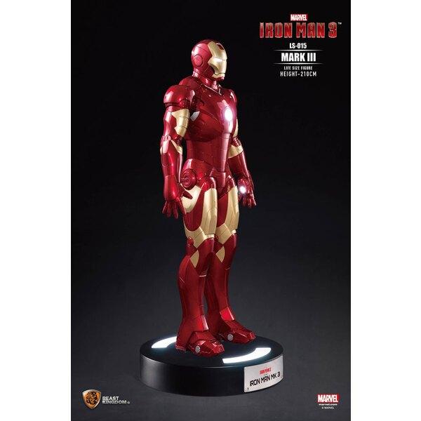 Iron Man 3 statue 1/1 Iron Man Mark III 210 cm
