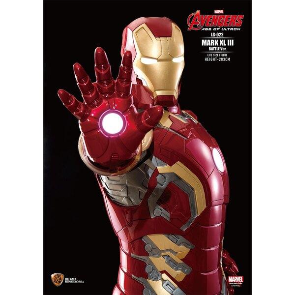 Avengers L'Ère d'Ultron statuette 1/1 Iron Man Mark XLIII Battle Ver. 203 cm