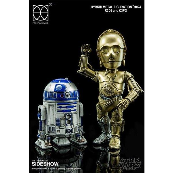 Star Wars pack 2 figurines Hybrid Metal R2D2 & C-3PO