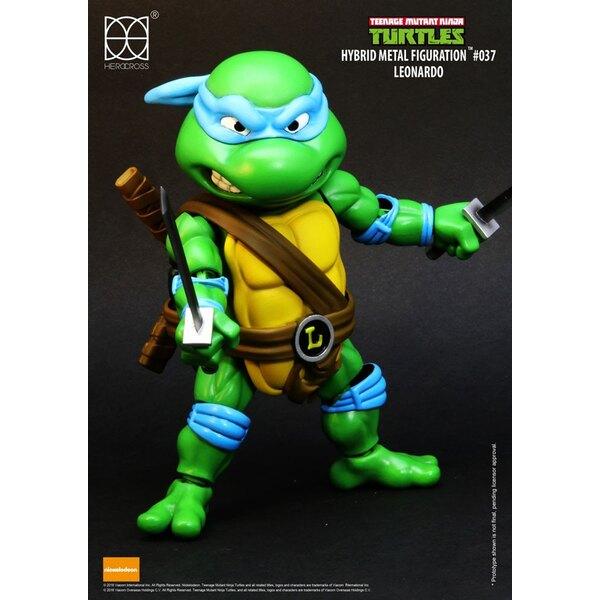 Les Tortues ninja figurine Hybrid Metal Leonardo 14 cm