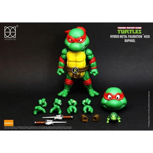 Les Tortues ninja figurine Hybrid Metal Raphael 14 cm