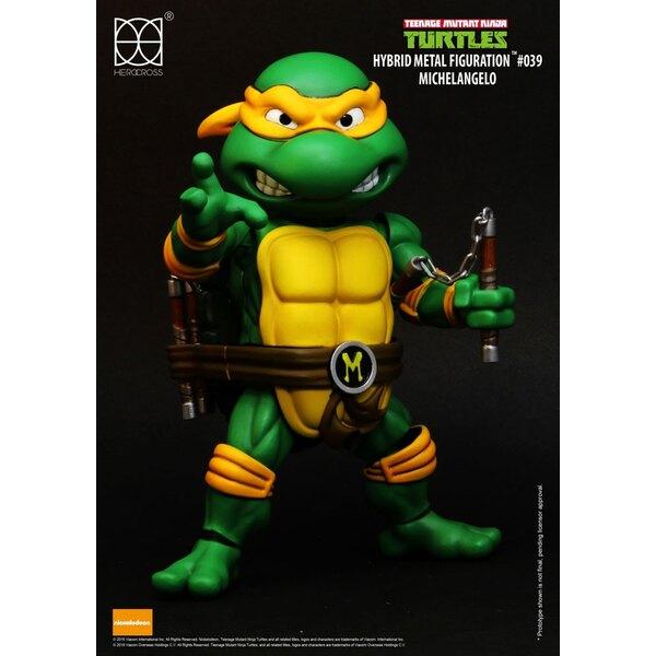 Les Tortues ninja figurine Hybrid Metal Michelangelo 14 cm