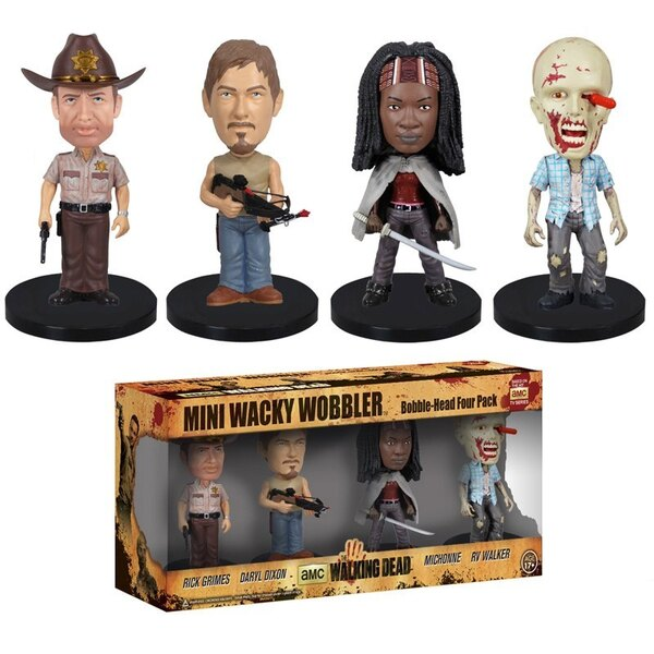The Walking Dead pack figurines Wacky Wobbler Bobble Head 8 cm