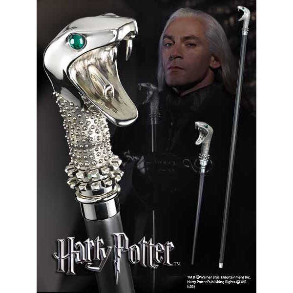 Harry Potter réplique canne / baguette de Lucius Malefoy