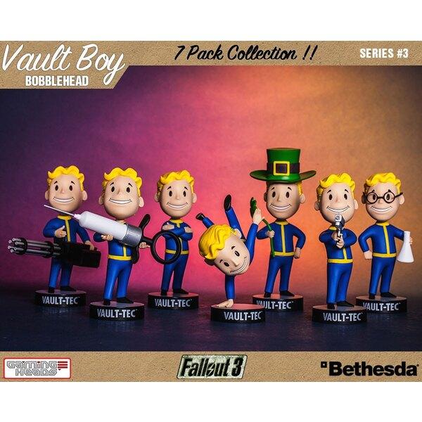 Fallout 3 série 3 pack 7 Bobble Heads Vault-Tec Vault Boys 13 cm