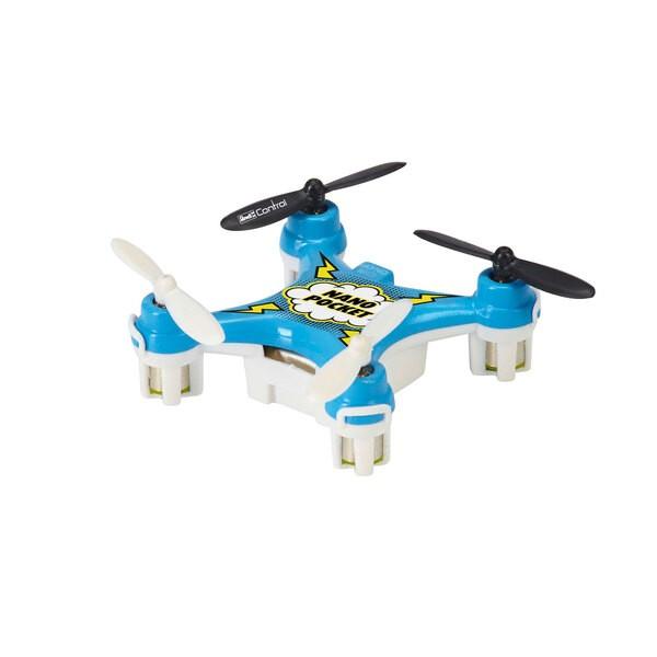 Quadcopter azul nano de bolsillo