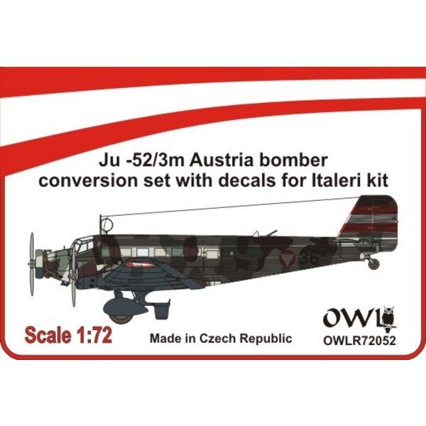 Junkers Ju-52 / 3m jeu autrichien nightbomber conversion (conçu pour être utilisé avec Italeri kits)