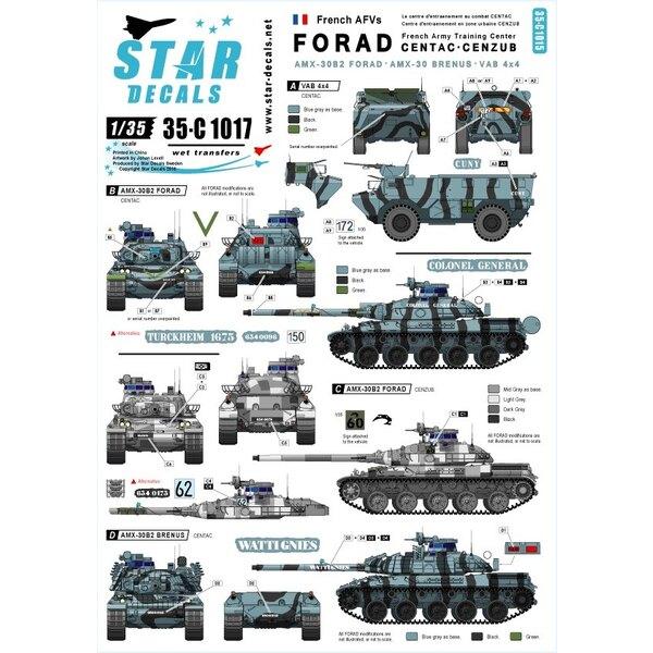 centre de formation FORAD.AMX-30 B2, AMX-30 B2 BRENNUS et VAB 4x4 APC.[AMX-30B2 Français char de combat principal]