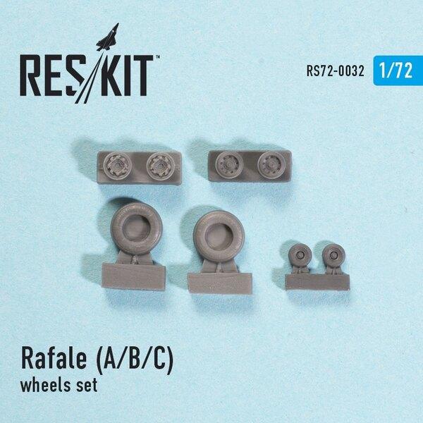 roues Dassault Rafale A / B / C set (conçu pour utiliser avec des kits Hobby Boss et Italeri)