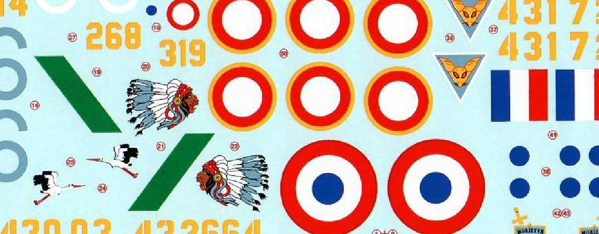 Model airplane decals
