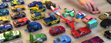 Die-cast models by scale