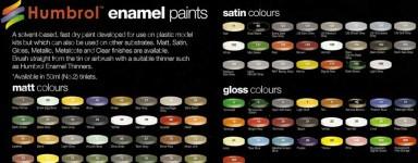 Enamel paint for models