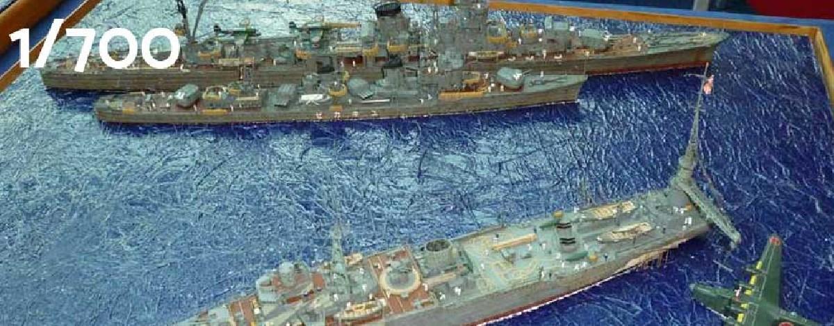 1:700 scale model ships